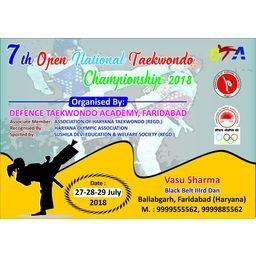 Logo of 7th Open National Taekwondo championship 2018