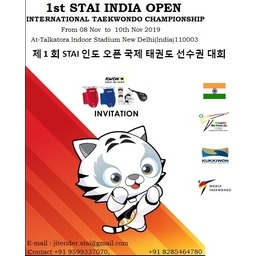 Logo of 1st STAI Open India International Taekwondo Championship 2019