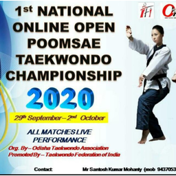 Logo of 1st National Online Open Taekwondo Poomsae Championship 29/09/2020 to 02/10/2020 India