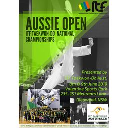 Logo of Aussie Open - ITF Taekwon-Do Australia National Championships