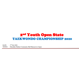 Logo of 2nd youth open state Taekwondo championship 2020