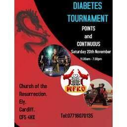 Logo of Diabetes charity fundraising tournament
